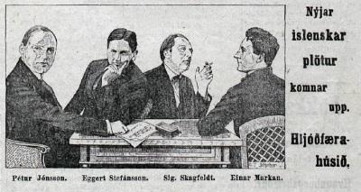 Eggert Stefánsson, auglýsing úr Vísi 1926