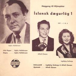 Alfreð Clausen og Ingibjörg Þorbergs - Íslenzk dægurlög 1