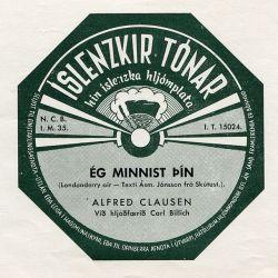 Alfreð Clausen - Ég minnist þín