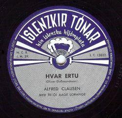 Alfreð Clausen - Hvar ertu