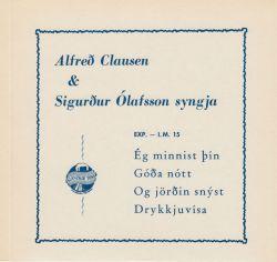 Alfreð Clausen og Sigurður Ólafsson - Ég minnist þín