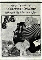 gylfi-aegisson-og-selma-hronn-i-jolaskapi
