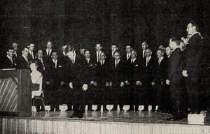 Karlakór Fljótsdalshéraðs í Valaskjálf 1968