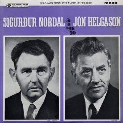 Sigurður Nordal og Jón Helgason - lesa úr verkum sínum