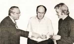 Gylfi Þ. Gíslason, Róbert Arnfinnson og Jón Þórarinsson