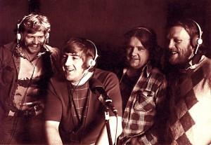 Rúnar Júl, Gylfi Ægisson, Engilbert Jensen og Gunnar Þórðarson 1974