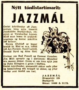 Jazzmál auglýsing