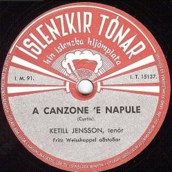 Ketill Jensson - A Canzone 'e Napule fol