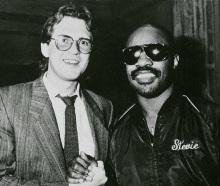 Jón Ólafsson og Stevie Wonder