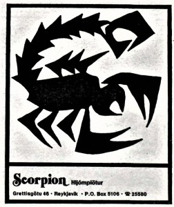 scorpion-hljomplotur